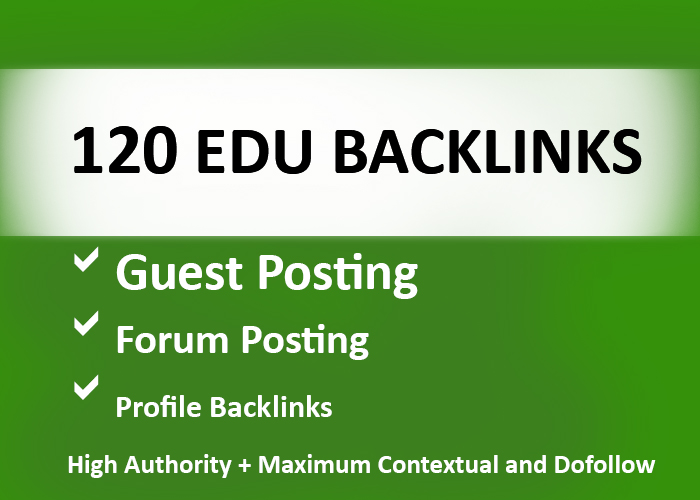 120 EDU Backlinks USA Based and Manually Created