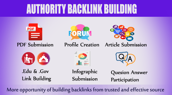 High Authority Backlinks Building Service