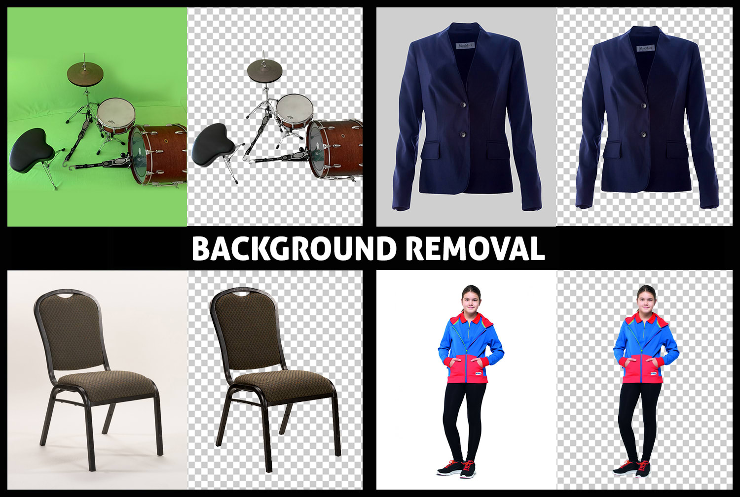 I will do clean and clear photo background removal,  image photo background change