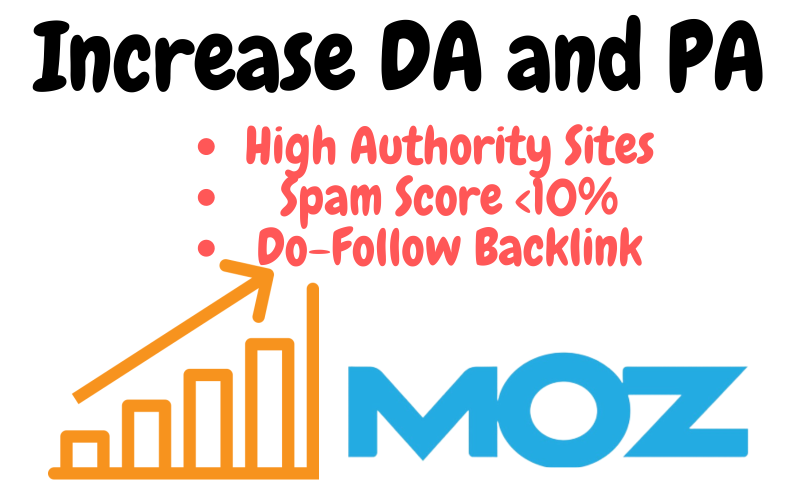 Increase MOZ DA Domain Authority PA Page Authority of your website with dofollow backlinks