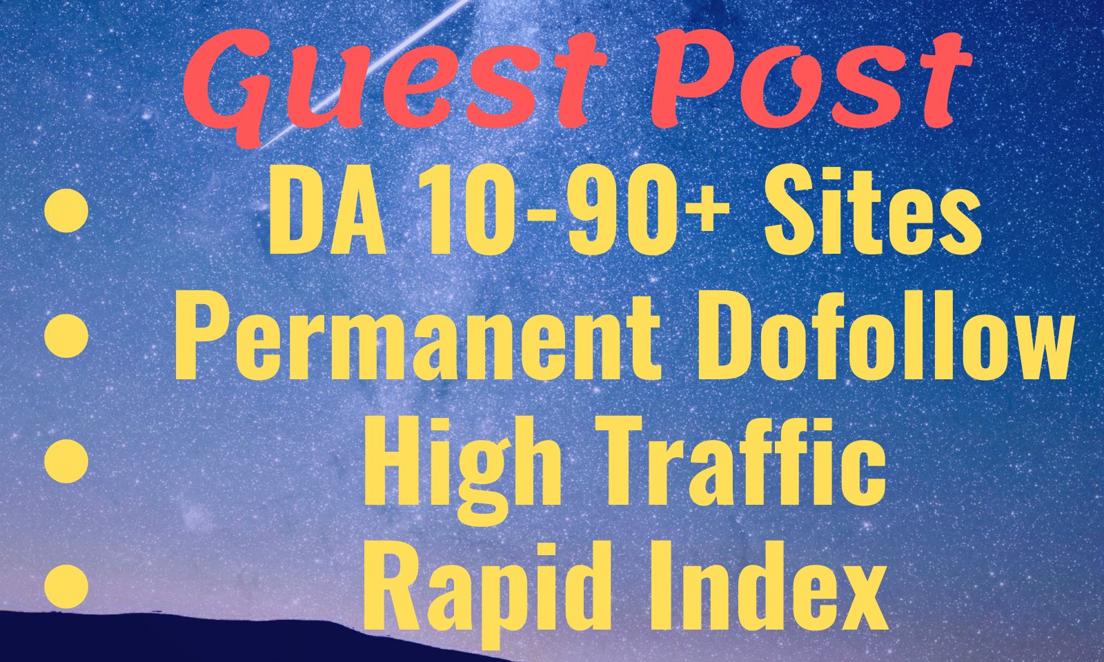 Provide Guest Post on high DA 90+ websites with permanent backlinks