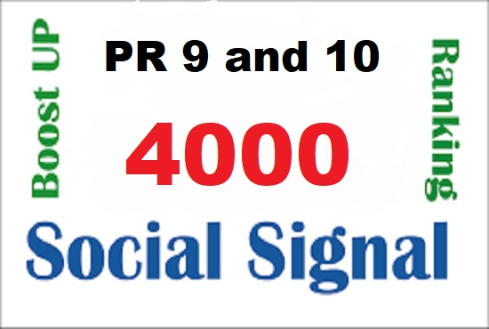 giveing awesome 4000 top quality SEO social signals