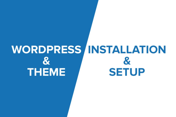 i will Install WordPress,  Setup Theme,  Setup Plugins And Basic SEO Settings