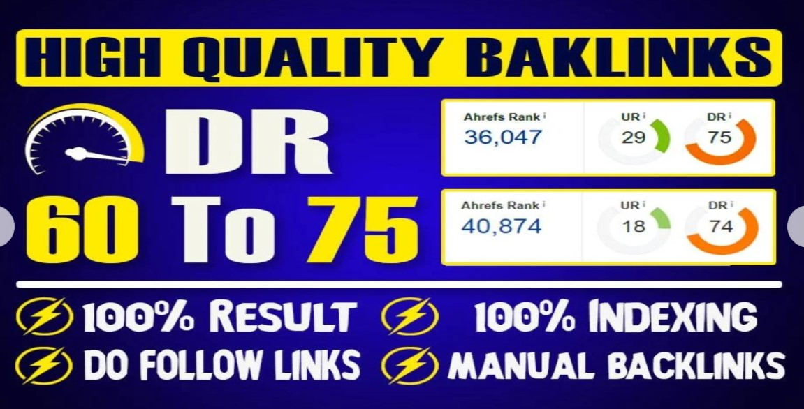 I will increase domain authority DR 75+ 15 pbns backlinks