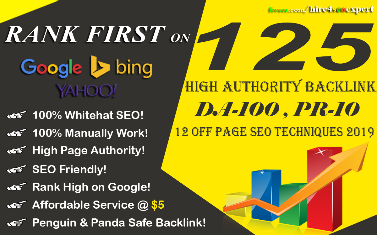 Increase Ranking with 125 Unique Domain High Authority Backlinks PA DA TF CF Upto 100