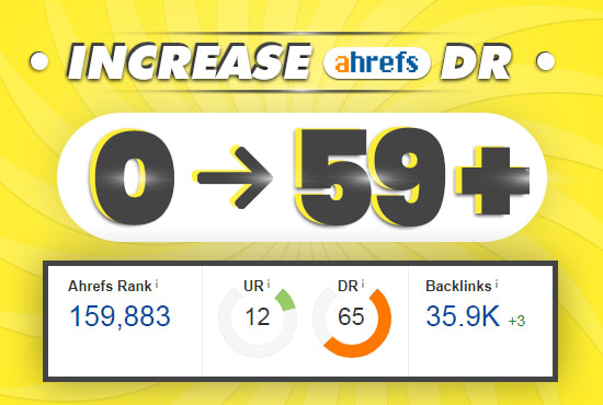 Increase your URL Rating and Domain Rating DR 60 Result with Prove