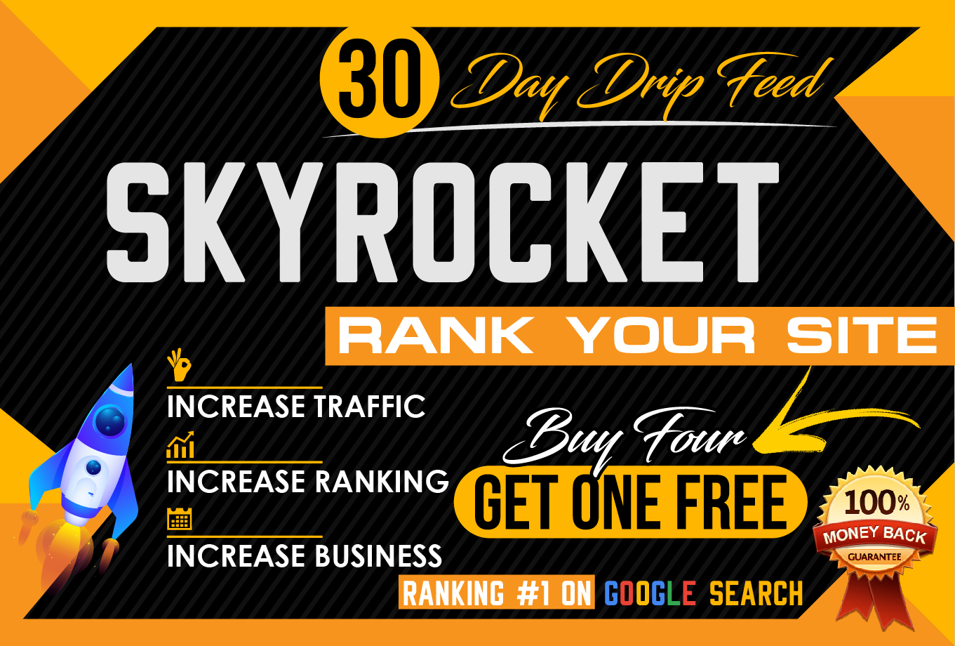 I will build skyrocket 30 day drip feed seo backlinks daily update