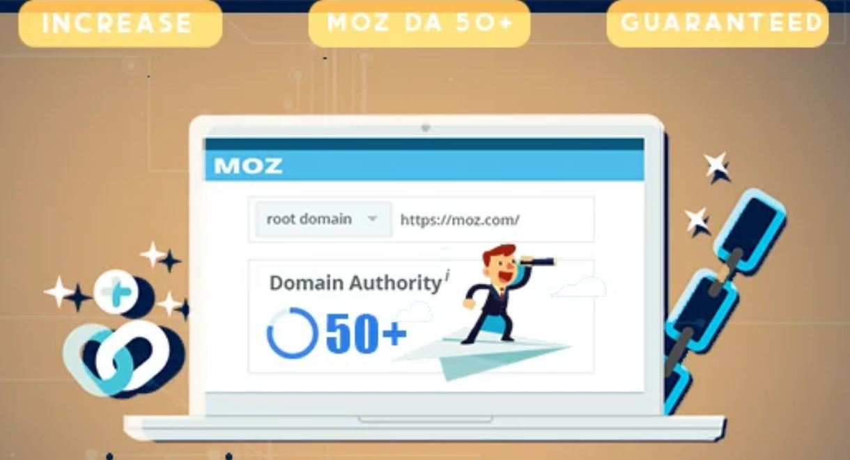 Increase MOZ DA 50 plus - Domain Authority Booster