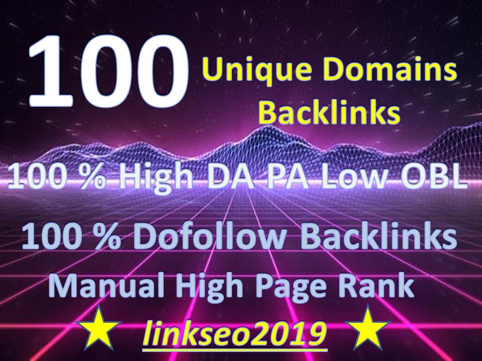 100 Unique Domain High Da Pa Dofollow Blog