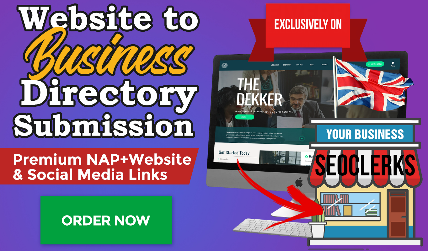 Submit Website To UK Business Directory As Pro Citation,  + 10 other Directories as a bonus