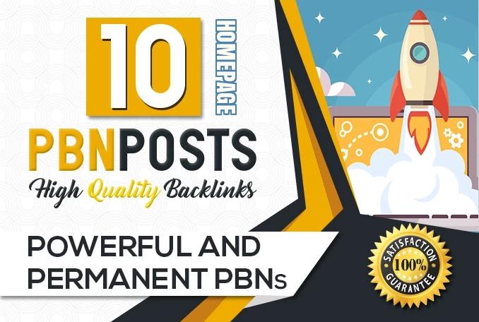 10 PBN Parmanent Post HomePage Do-Folow High DA PA Top Quality Domain