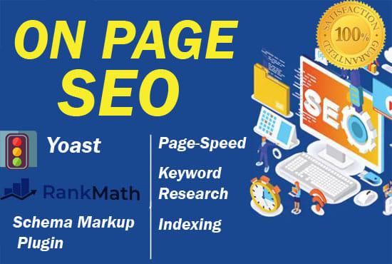 I will do WordPress onpage seo,  meta tags optimization