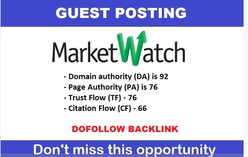 Write And Publish Guest Post On Marketwatch. com