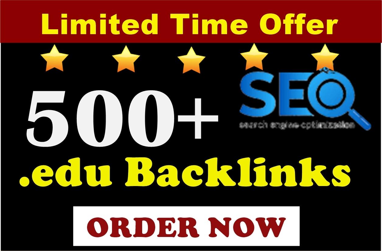 Rank on Google by manually 500 + edu Backlinks