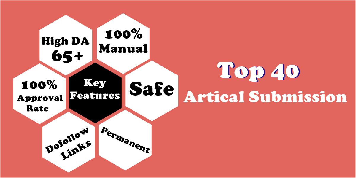 Manual 40 Article Submission On High DA 60+ Sites With Dofollow Backlinks