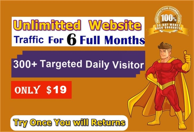 Unlimited Website Traffic for 6 month
