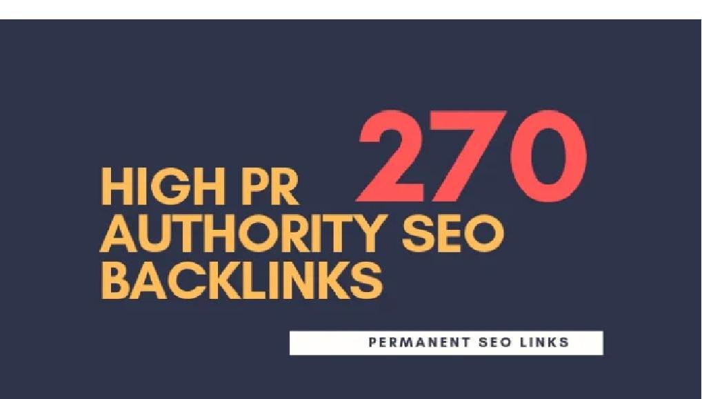 do 270 high pr authority SEO backlinks, link building