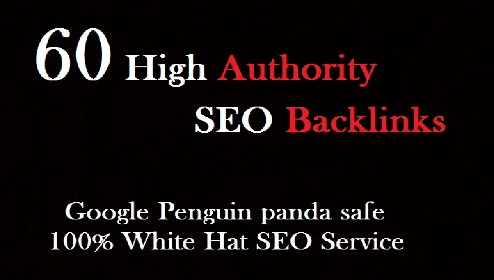 create 60 high quality SEO backlinks