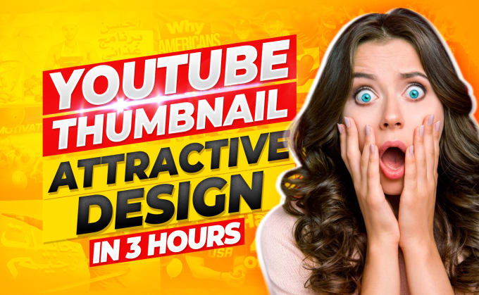 I will Design 3 Viral YouTube Thumbnail