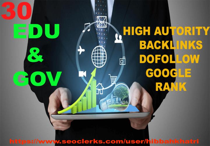 google rank high authority 30 EDU/GOV dofollow blogcomment backlinks