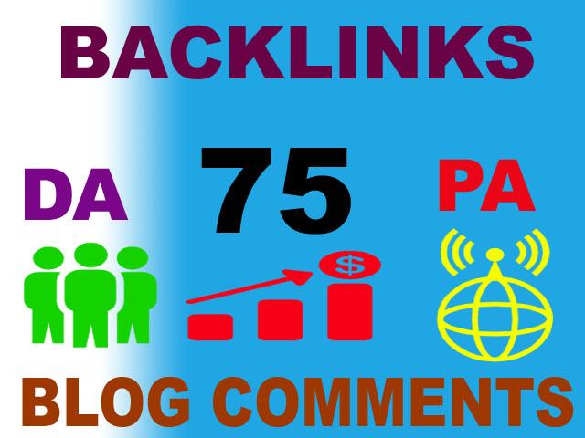75 High authority DA,  PA,  TF,  CF,  dofollow backlink