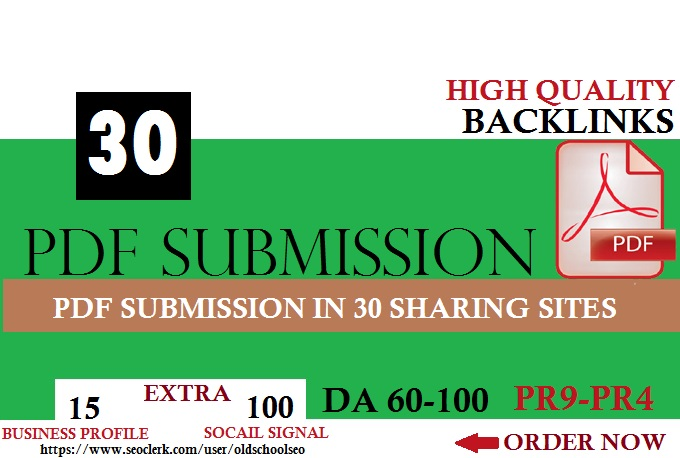 Manual PDF Creation & Submission Service FOR GOOGLE RANKING