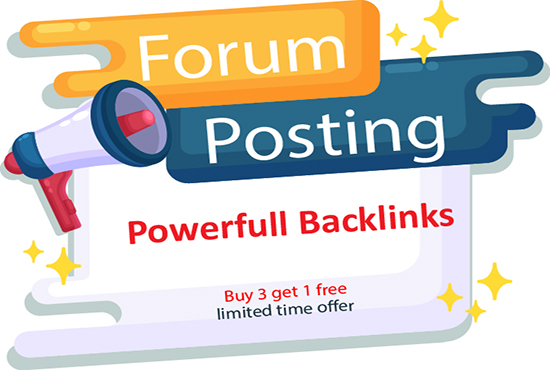 I will create manually 50 forum posting SEO backlinks link building