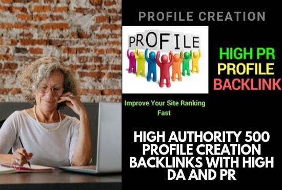 Give You Top 50 HQ Profile Creation Backlilnk For Your Website
