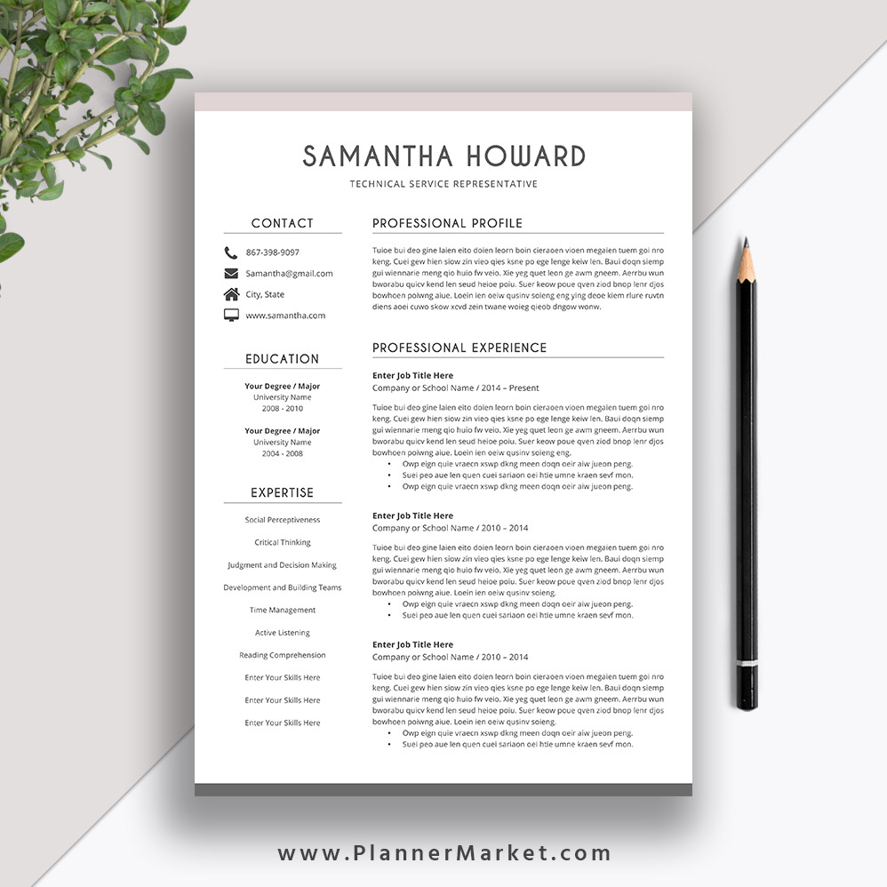 Create a professional resume or cover letter
