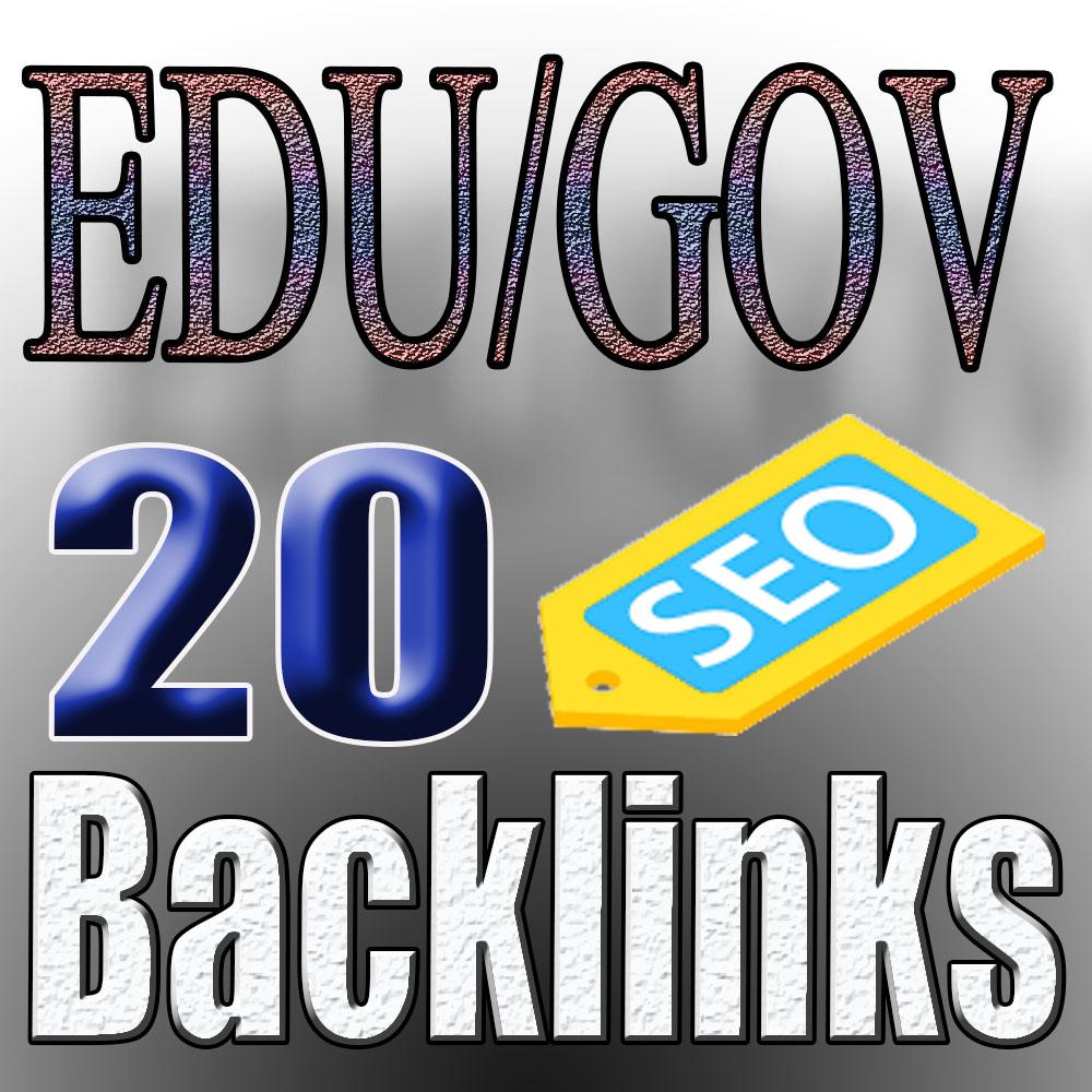 Get 20 EDU/GOV Backlinks for google ranking