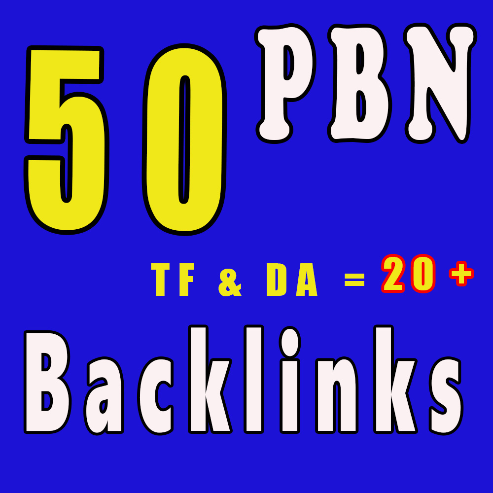 Create Manually 50 Homepage PBN Backlinks TF & DA is 20+ to get Skyrocket SERP with Blogger Links