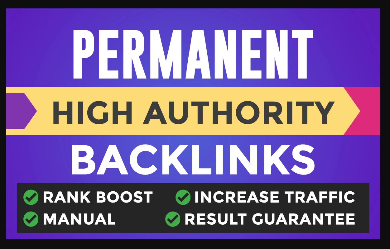 Rank your website on Google First Page With Permanent Backlinks