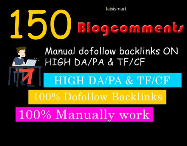 I will do 150 Blogcoments Backlinks dofollow
