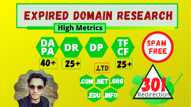 I will find expired domain having backlinks from high authority site on your niche based
