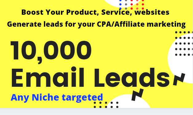 Boost your product with niche targeted 10k mail/leads