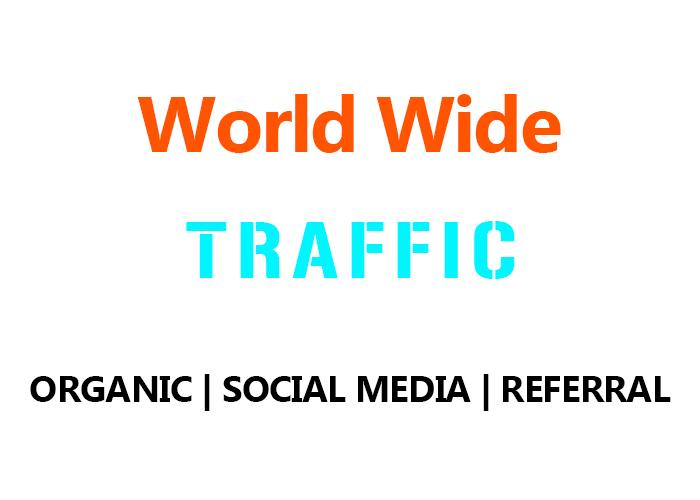 Real World Wide Organic, Social Media,  Referral Traffic