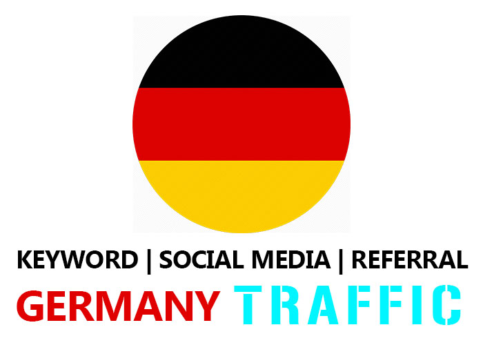 Send Germany Organic Keyword,  Social Media,  Referral Traffic