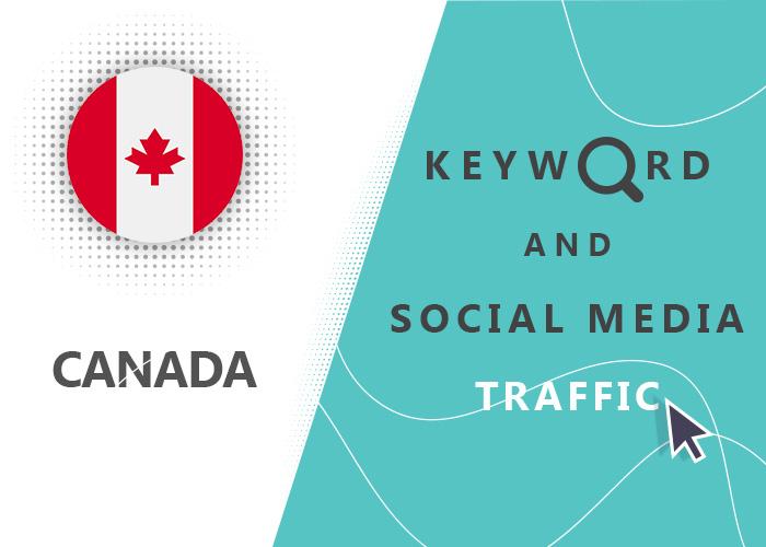 Send Canada Organic Keyword And Social Media Traffic