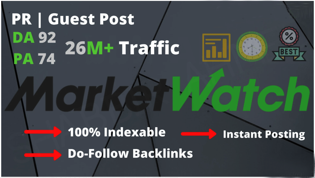 I will write and publish guest post on marketwatch DA 92 news site
