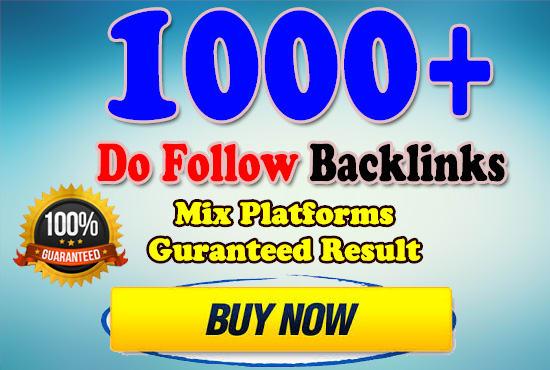 Provide 1000+ Mix Platform Of High Quality backlinks for your Website