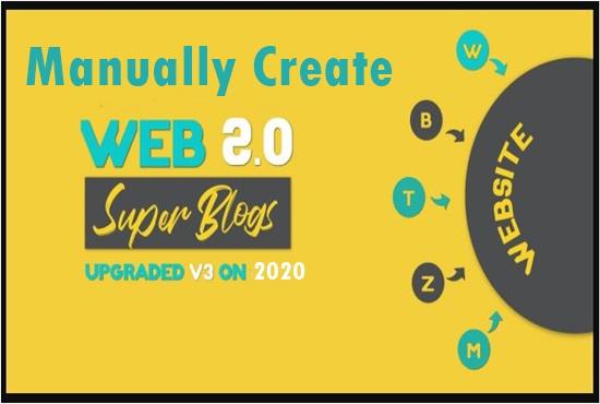 Manually 10 Web2.0 Blog Backlinks With High DA PA Domains