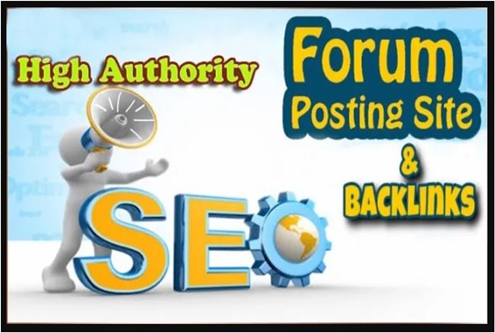 50 High DA forum posting Backlinks-Top forum posting service