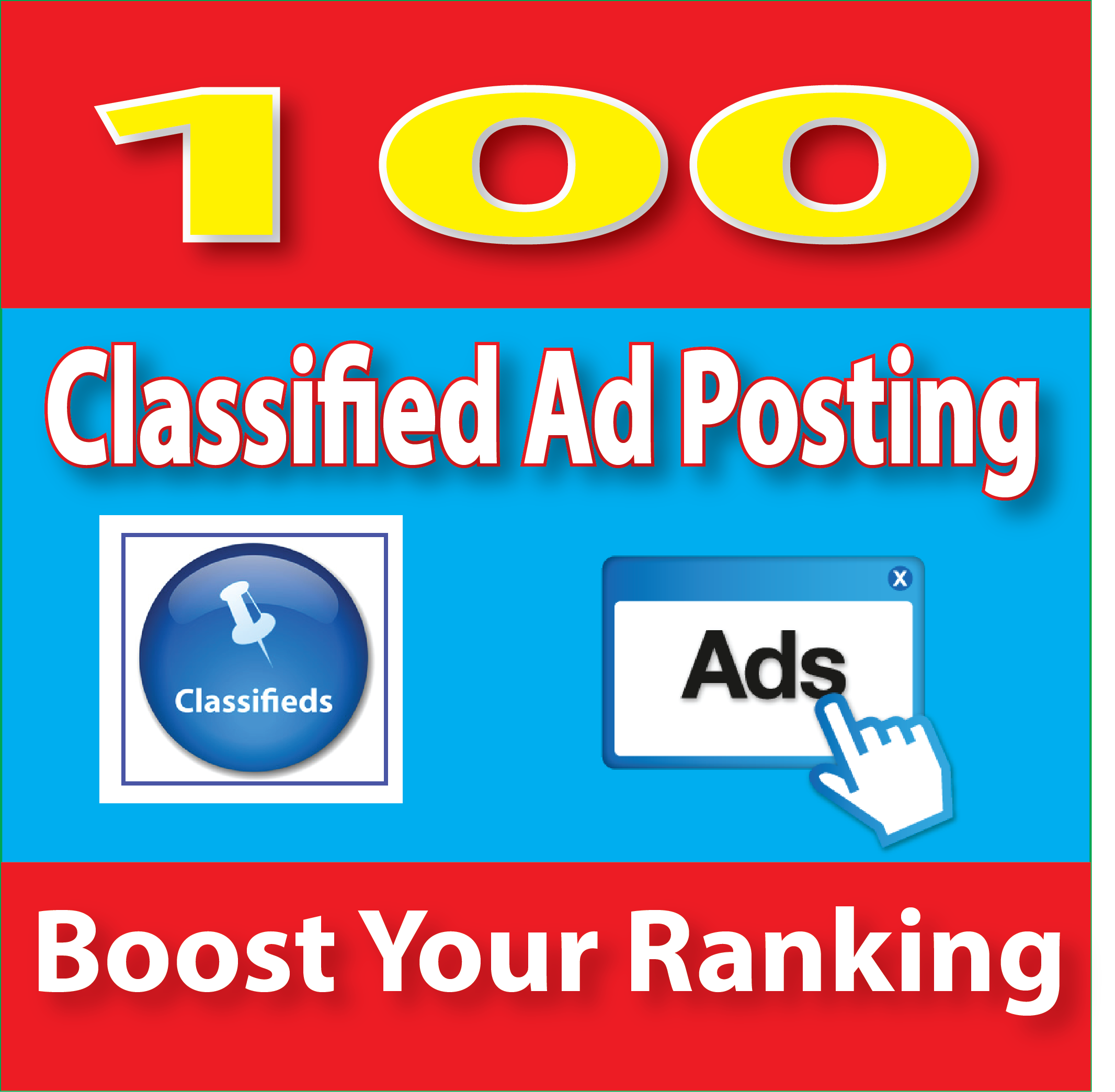Top 100 Classified Ad posting for your Website traffic and google ranking