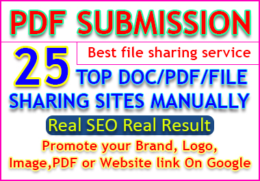 File or PDF Submission to Authority Top 25 file and doc sharing sites manually
