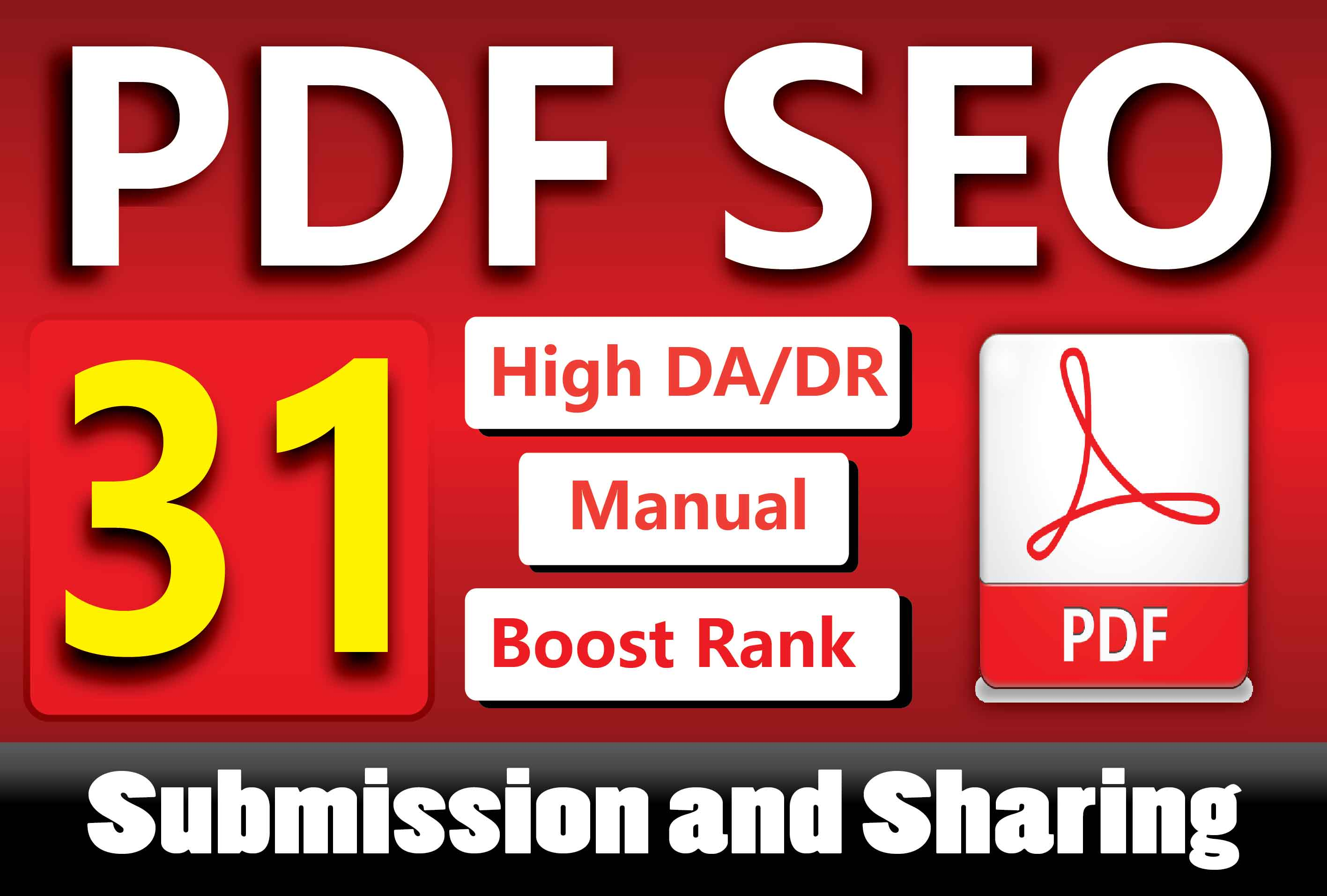 Manually 31 PDF Submission or Sharing to High Authority Sites for Boosting Google Ranking