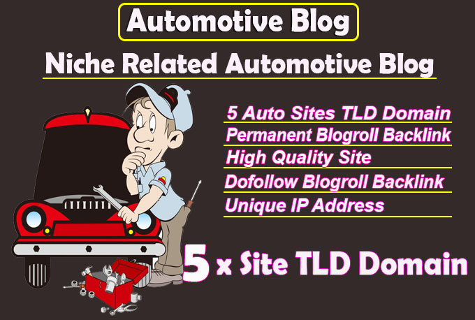 give link 5 site automotive tld blogroll permanent