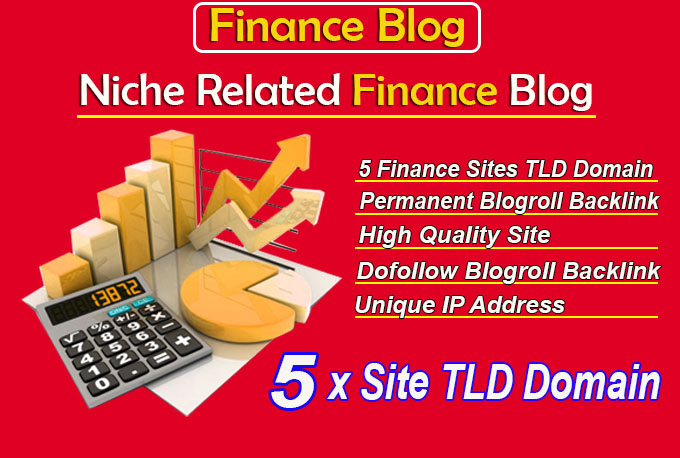 give your backlink on 5 sites tld finance blogroll permanent