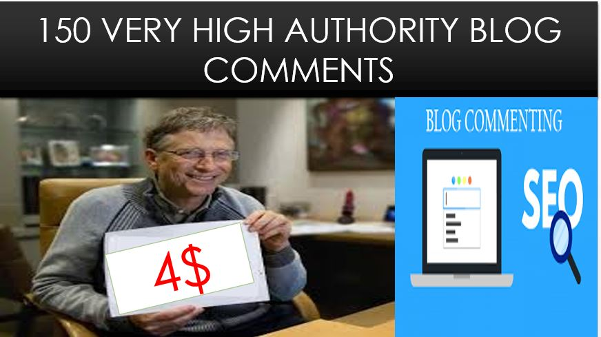 Provide 150 blog comments high authority backlinks