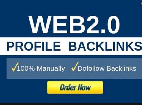 I will create 30 High Authority web2.0 profiles do folow links hgi DA PA
