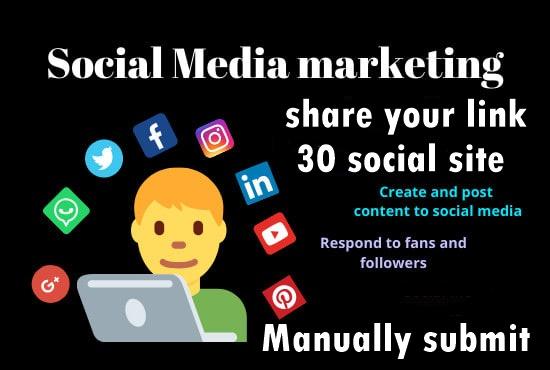 Share your Link Top 30 social media-Top website marketing service in Monster Backlinks
